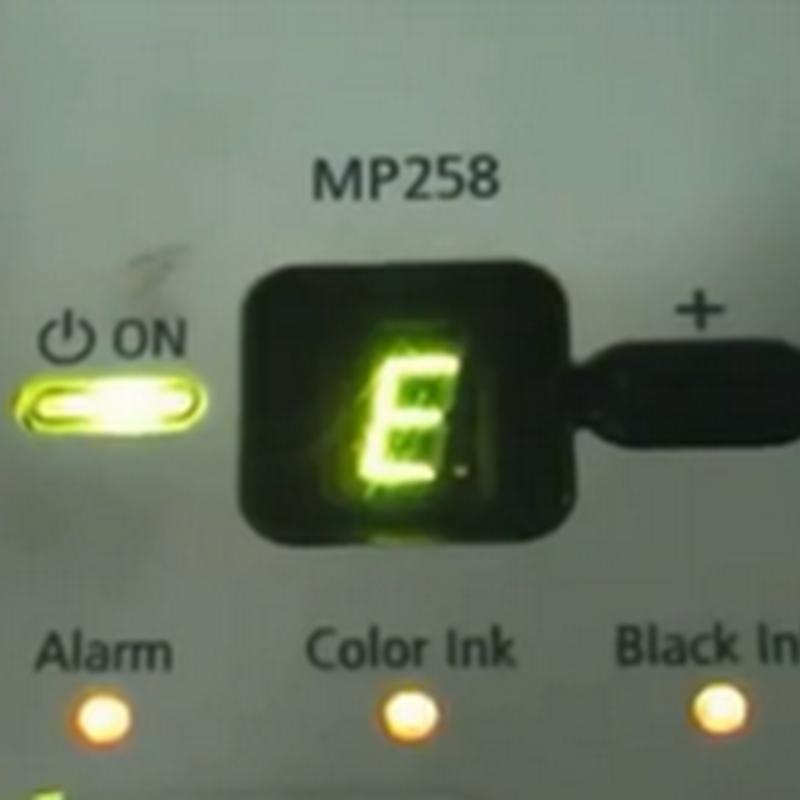 แก้ปัญหา เครื่องปริ้นแคนนอน mp258 เออเร่อ p08