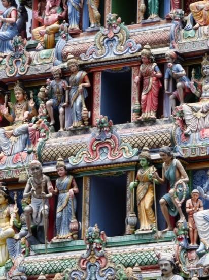Amazing gateway to the Sri Mariamman Temple, South Bridge Street, Singapore