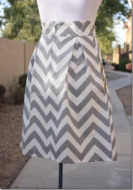 Chevron Skirt_Zipper