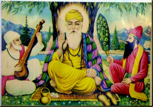 gurunanak with disciples