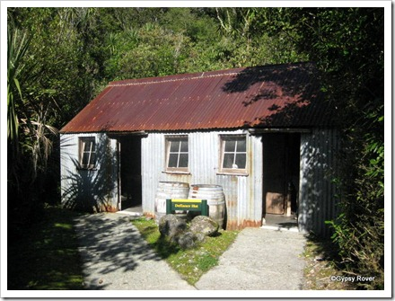 Defiance Hut. Built in 1916 and moved twice on the mountain. Now restored as a tourist attraction in Franz Josef.
