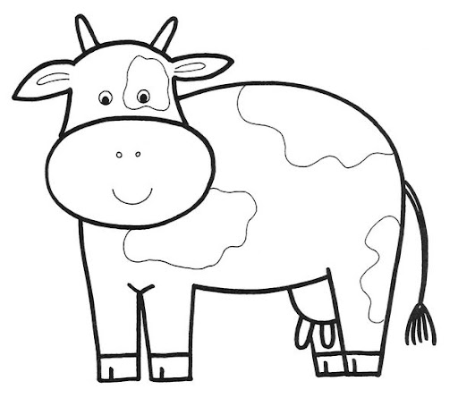 Dairy Cow Coloring Page DAIRY COW COLORING PAGES