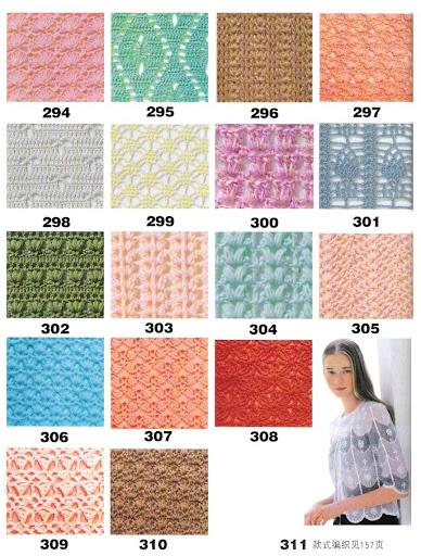 puntos a crochet 01 diagramas y esquemas de puntos a crochet
