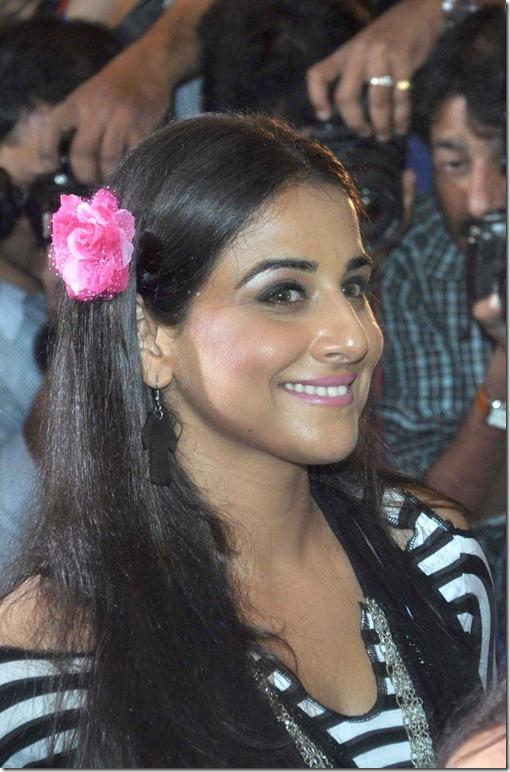 Vidya Balan Cute Photos in Black and White Checkered Dress