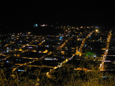 view over San Gil by night