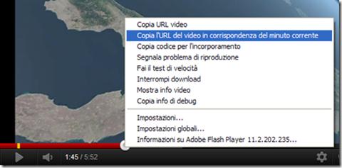 Iniziare la riproduzione di un video YouTube da un punto specifico