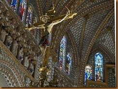 Toledo, cathedral crucifix N