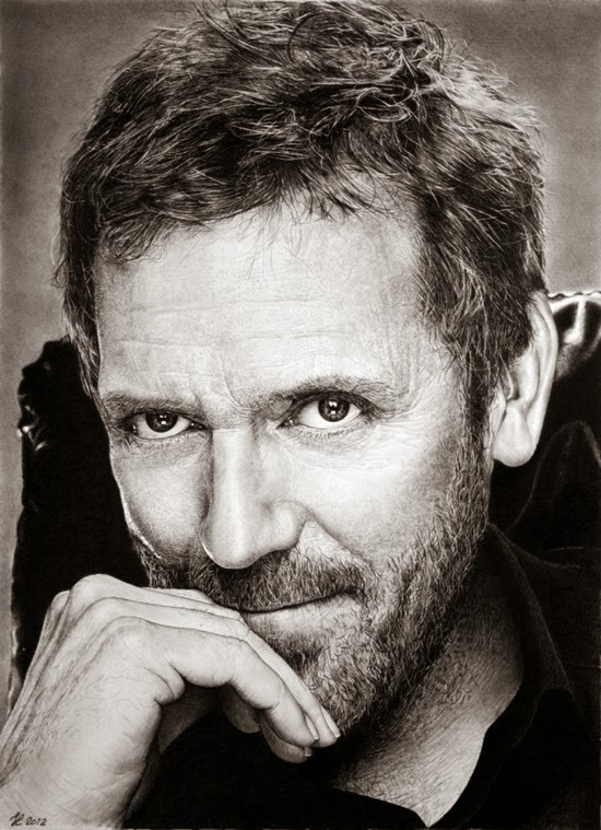 gregory house pencil drawing
