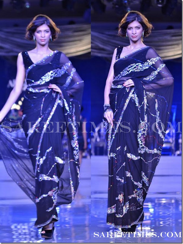 Adarsh_Gill_Black_Saree