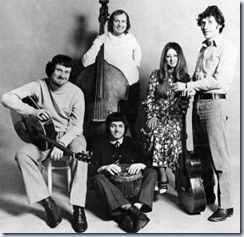 The Pentangle: Renbourne, Thompson, Cox, McShee, Jansch