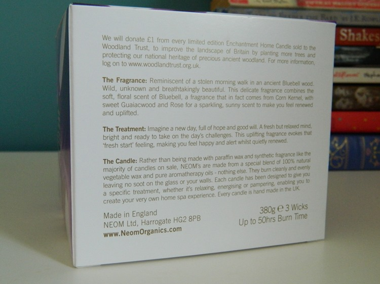 NEOM Enchantment Candle Info