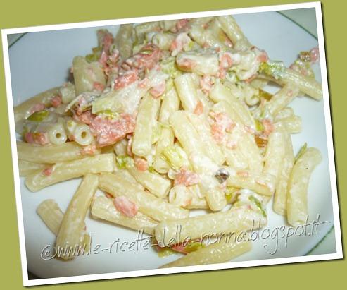 Ricetta pasta salmone e champignon