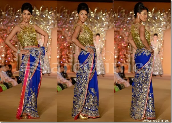 Abu_Jane_Sandeep_Blue_Embellished_Saree