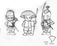 Diseños para los Samukokes del Clan del Viento