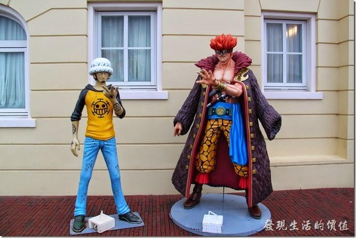 日本北九州-豪斯登堡(千陽號)。這些是與真人一樣大小的海賊王公仔。