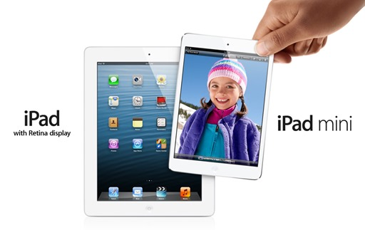 iPad mini and iPad 4th generation