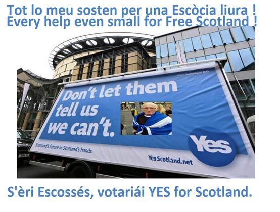 campanha pel Yes en Escòcia punt de vista