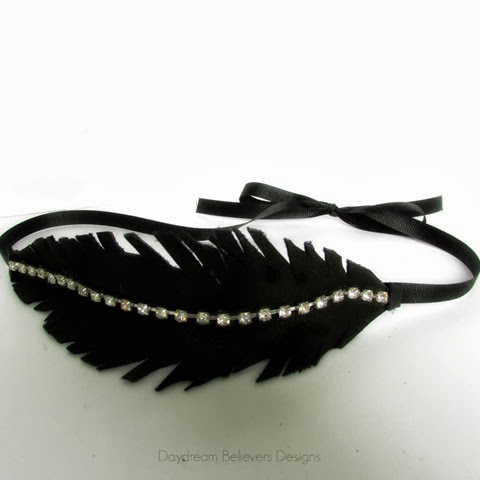 DIY Leather Feather Headband Tutorial