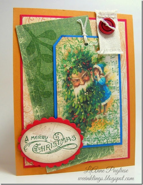 LeAnne Pugliese WeeInklings Merry Monday 102 Vintage Santa Stampin Up