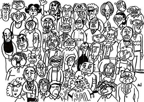 GENTE DIBUJOS PARA COLOREAR | Dibujos para colorear