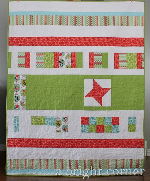 quilt back from A Bright Corner quilts