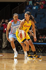 wearing brons wnba soldier7 skylar diggins 05 Nike Zoom Soldier VII   Seattle Storm & Chicago Sky PEs