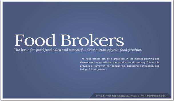 Food Brokers White Papaer Ebook