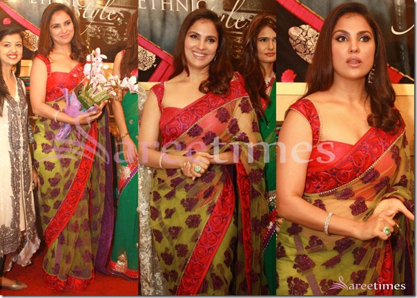Lara_Durra_Green_Saree