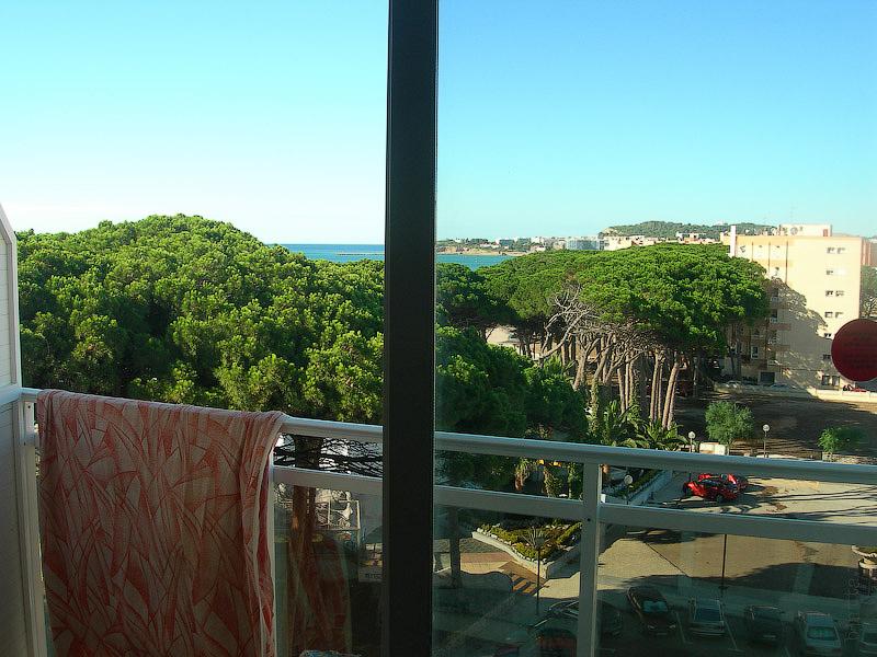 Hotel Terramarina (ex. Carabela Roc). La Pineda. Costa Dorada. Spain. La Pineda оправдывает своё название на все 100%. Весь берег в соснах.