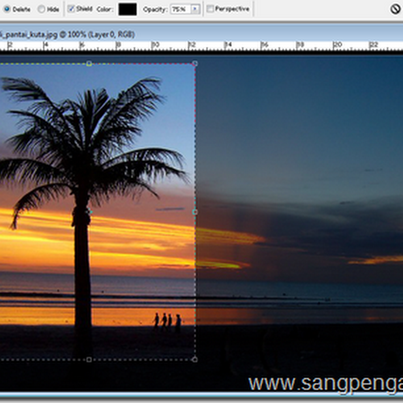 Menggunakan Crop pada Photoshop