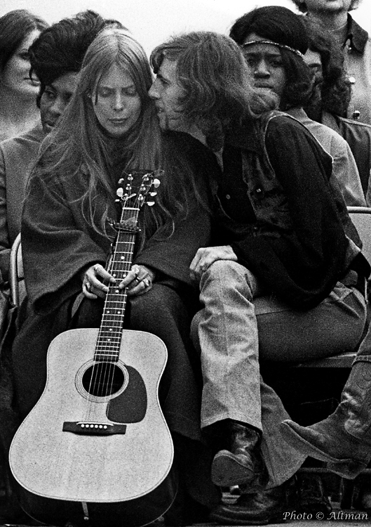 Joni Mitchell and Graham Nash, The Big Sur Folk Festival, Eselan, CA ~ June, 1969, Photo © Robert Altman.jpg