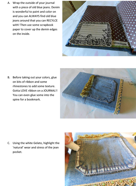Altering a Journal Cover with Faber-page 2
