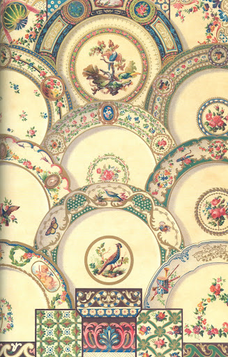 Painting on porcelain from the 18th century.