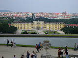 The view of the Schonbrunn Palace from Gloriette