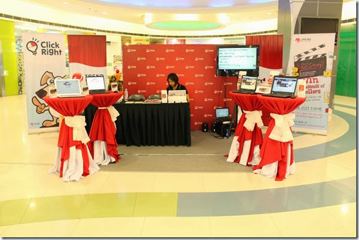 Trend Micro Booth at SM Marikina Cyberzone