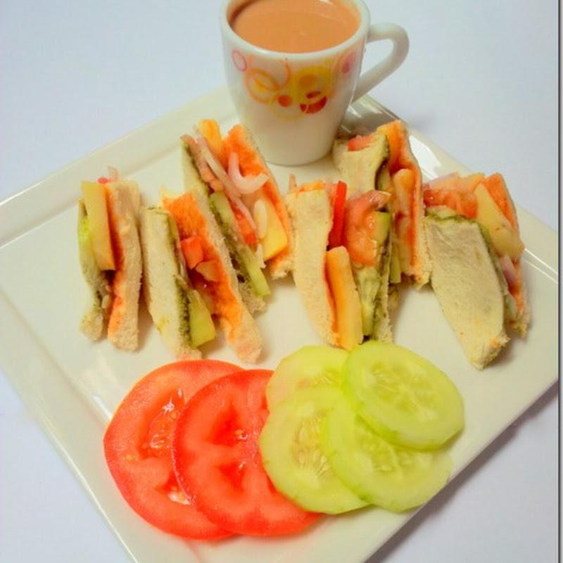 Vegetable Sandwich   Street Style