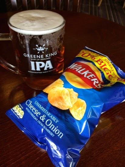 Oh British beer and crisps, how I have missed you...