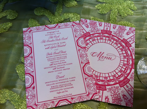 Ceci New York created the invitations and stationery for the event.