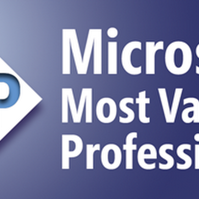 Enhorabuena MVP de Microsoft 2013!