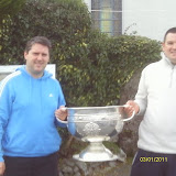 Patrick Andrews and Colin O Sullivan with Mr Sam Maguire