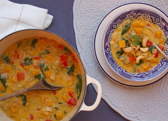 Coconut Curry Butternut Soup
