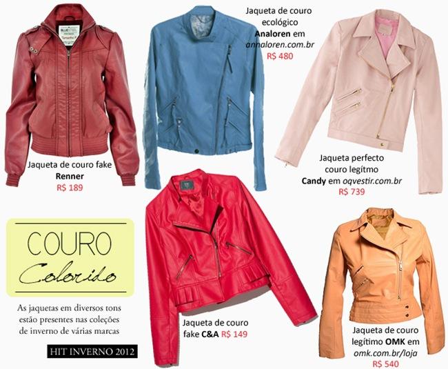 Jaqueta de couro feminina: Modelos coloridos – Confira 5 sugestões de compras.