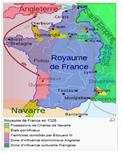 Mapa de fRANÇA 1328