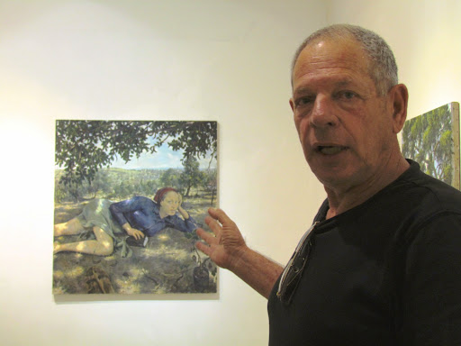 Meir Aaronson in Israeli Art Museum.JPG