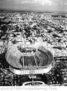 'Aerial View of Miami's Orange Bowl: Miami, Florida' photo (c) 1969, Florida Memory - license: http://www.flickr.com/commons/usage/