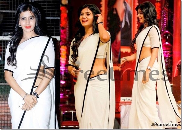Samantha_White_Georgette_Saree