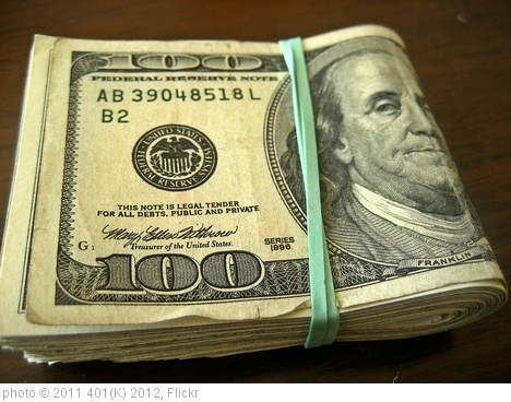 'Money' photo (c) 2011, 401(K) 2012 - license: http://creativecommons.org/licenses/by-sa/2.0/