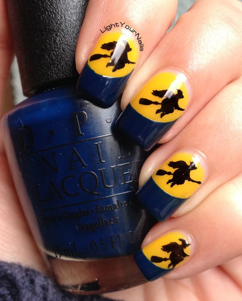 Halloween witches nail art