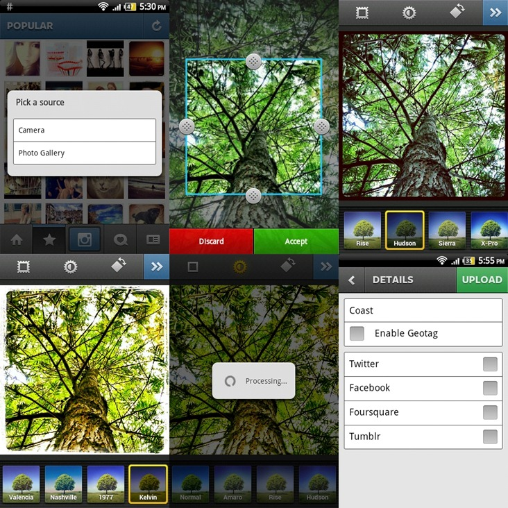 how to use instagram android
