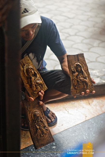 Vendors Selling Religious Icons at Magellan's Cross Cebu